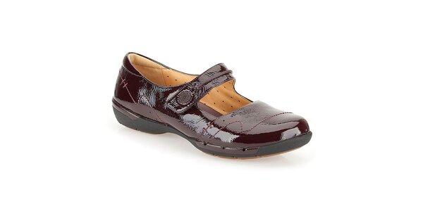 Dámske lakované topánky vo farbe bodró Clarks