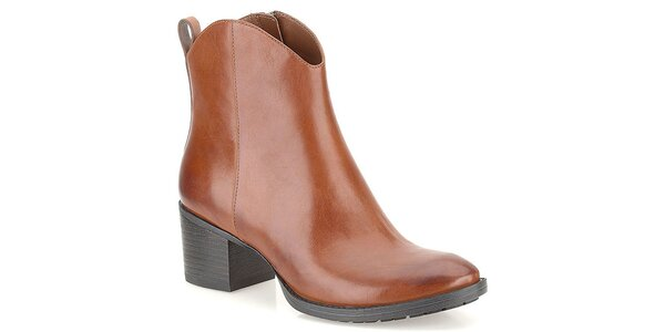 Dámske svetlo hnedé topánky s pútkom na päte Clarks