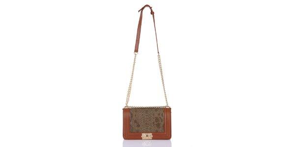 Dámska vzorovaná kabelka s retiazkovým popruhom Giorgio di Mare
