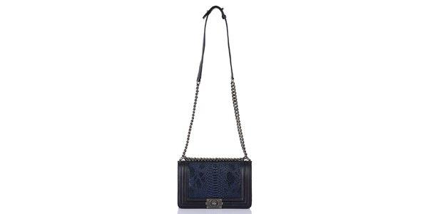 Dámska modro-čierna kabelka so šupinatým vzorom Giorgio di Mare