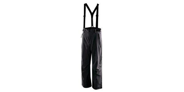 Pánske antracitové lyžiarske nohavice s trakmi Hannah