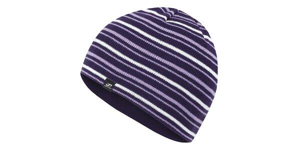 Fialová pruhovaná čiapka Hannah
