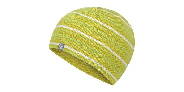 Žltozelená pruhovaná čiapka Hannah