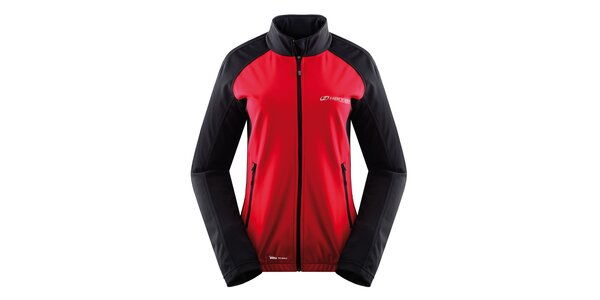 Dámska softshellová bunda v červeno-antracitovom prevedení Hannah