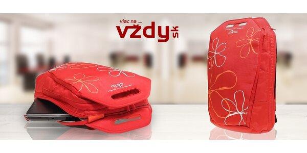 Štýlový červený batoh pre notebooky MediaTech
