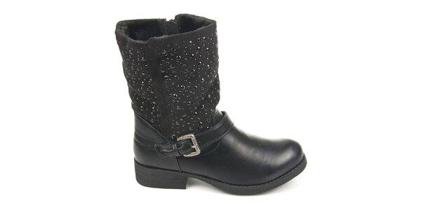 Dámske čierne topánky s ozdobnými detailmi Destroy