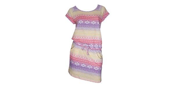 Dámske farebné šaty s aztéckym vzorom Fundango