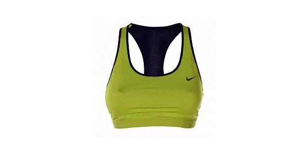 Dámska zeleno-čierna športová podprsenka Nike