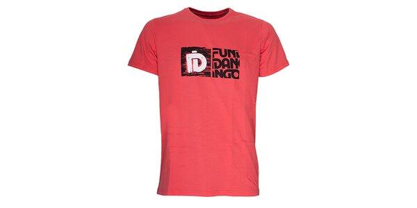 Pánske tričko s potlačou Fundango - červenooranžové