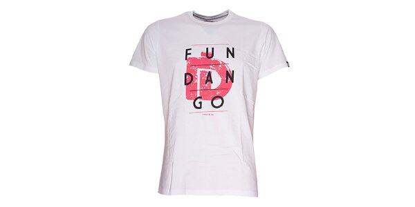 Pánske biele tričko s nápisom Fundango