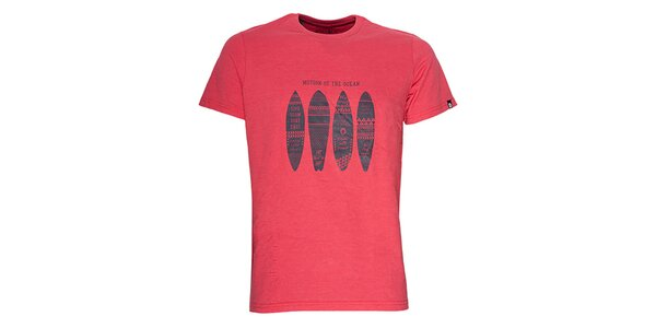 Pánske tričko v červenom odtieni Fundango