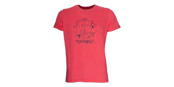 Pánske tričko s krátkym rukávom Fundango - červený odtieň