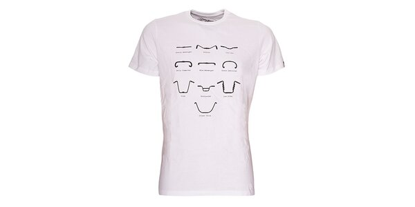 Pánske biele tričko Fundango - s potlačou