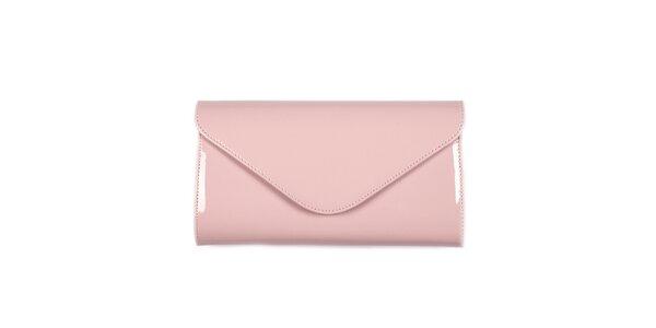 Dámska svetlo ružová listová kabelka Felice