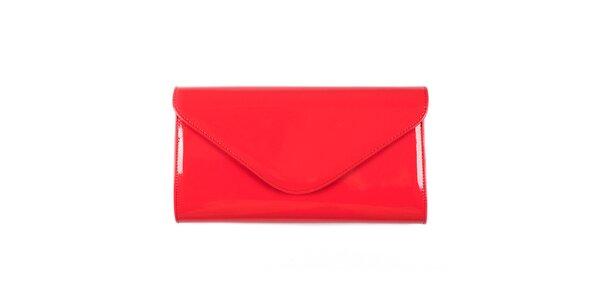 Dámska korálovo červená listová kabelka Felice