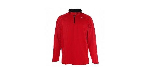 Pánske červené funkčné tričko Nike s dlhým rukávom