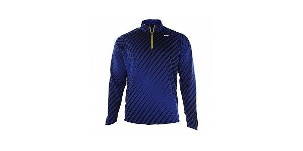d17b39a96c3b Pánske modro-čierne tričko s dlhým rukávom Nike