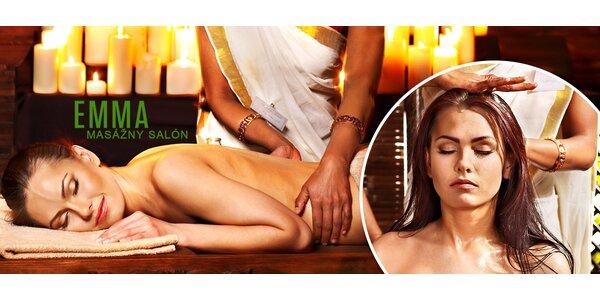 Luxusná indická masáž celého tela