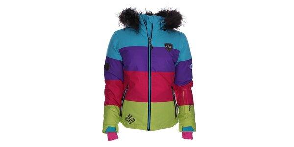 Dámska farebne pruhovaná snowboardová bunda Kilpi