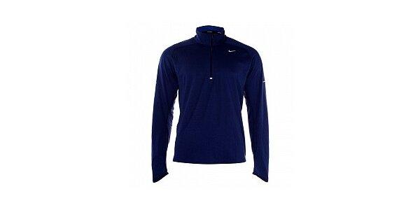 Pánske modré tričko Nike s dlhým rukávom