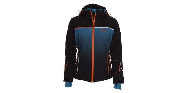 Dámska modrá lyžiarska bunda s kapucňou Kilpi