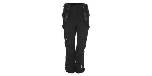 Dámske čierne lyžiarske nohavice so šlami Kilpi