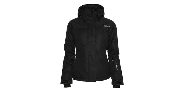 Dámska čierna lyžiarska bunda s kapucňou Kilpi