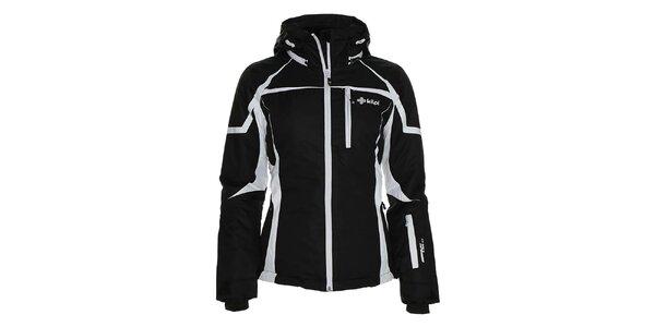 Dámska čierna lyžiarska bunda s bielymi prvkami Kilpi
