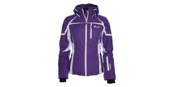 Dámska fialová lyžiarska bunda s bielymi prvkami Kilpi