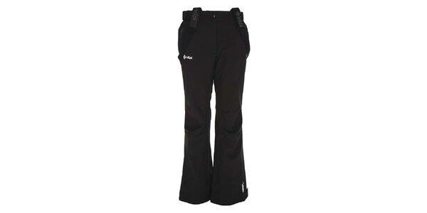 Dámske čierne softshellové nohavice so šlami Kilpi