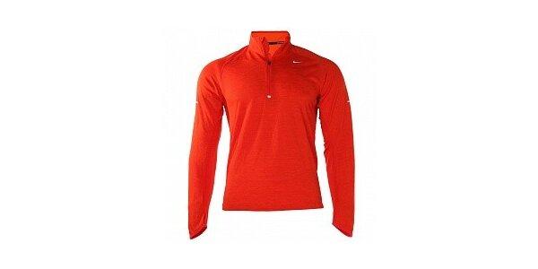 Pánske červené tričko Nike s dlhým rukávom