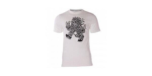 Pánske biele tričko Nike s černým potlačou