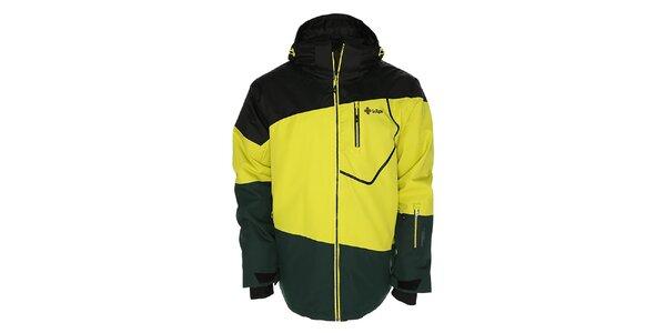 Pánska žlto-čierna snowboardová bunda Kilpi