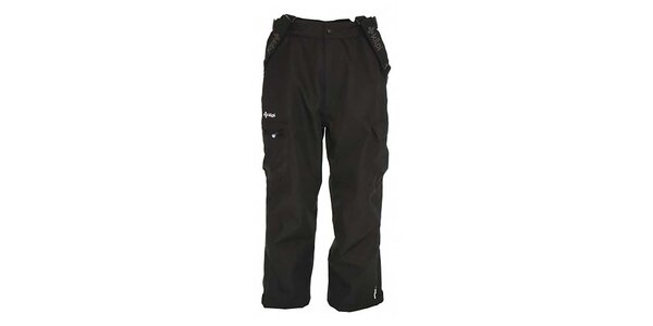 Pánske čierne snowboardové nohavice s odopínacími šlami Kilpi