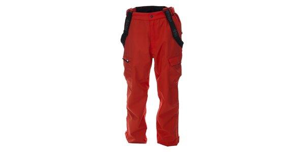 Pánske červené snowboardové nohavice s odopínacími šlami Kilpi