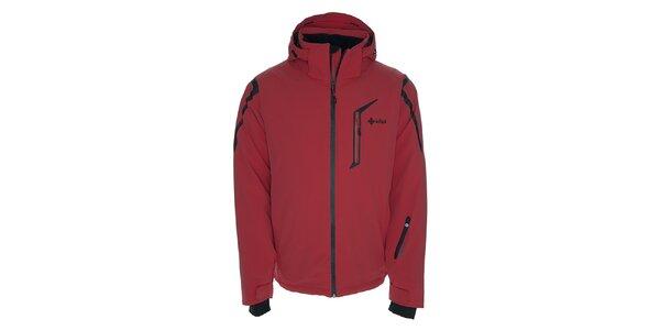 Pánska lyžiarska bunda s kapucňou Kilpi - červená