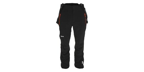 Pánske čierne lyžiarske nohavice s trakmi Kilpi