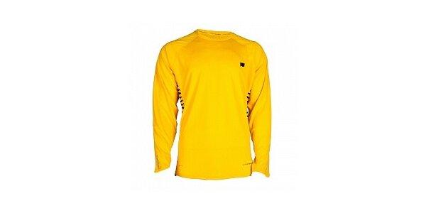Pánske citrónovo žlté funkčné tričko Nike s dlhým rukávom