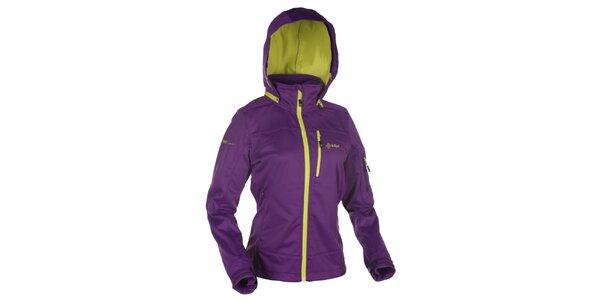 Dámska fialová softshellová bunda s kapucňou Kilpi