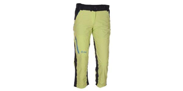 Dámske 3/4 zeleno-čierne nohavice Kilpi