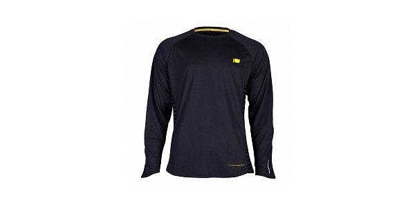 Pánske antracitové funkčné tričko Nike s dlhým rukávom