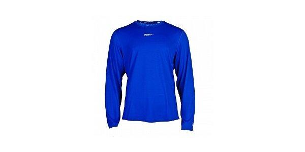 Pánske žiarivo modré funkčné tričko Nike