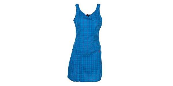 Dámske vzorované modré šaty Kilpi