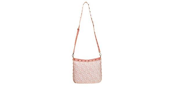 Dámska kabelka s nápismi DKNY - ružová