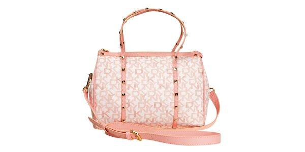 Dámska ružová kabelka s pyramídkami DKNY
