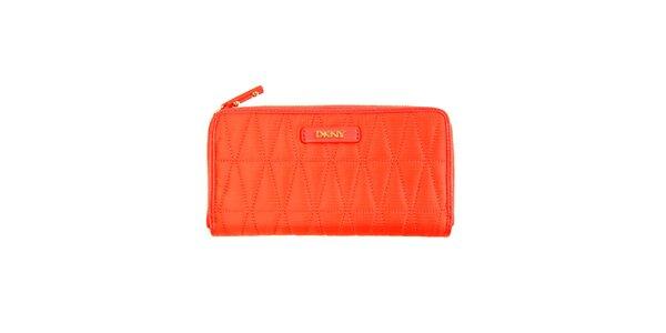 Dámska oranžová peňaženka DKNY
