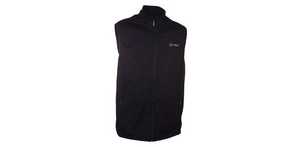 Pánska čierna softshellová vesta Kilpi