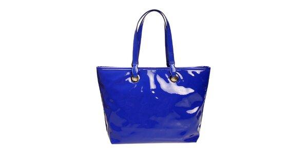 Dámska modrá lesklá kabelka DKNY