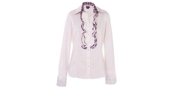 Dámska biela košeľa 7camicie s žabó