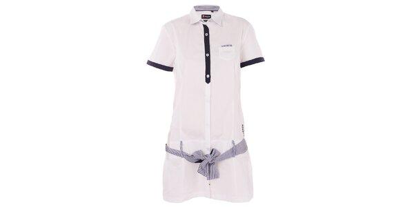 Dámske biele košeľové šaty 7camicie